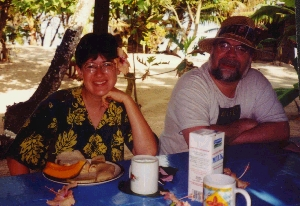Miriam and Mike on Savai'i, Samoa